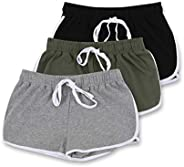 Blis Women's French Terry Casual Workout and Lounge Short with Side Stripe and Po