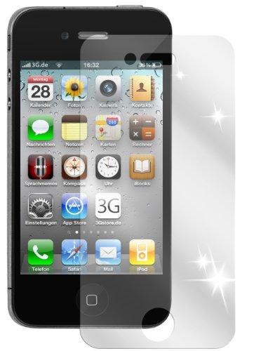 Ecultor I 6X Schutzfolie klar passend für iPhone 4 / 4S Folie Bildschirmschutzfolie (4X Vorder- und 2X Rückseite)