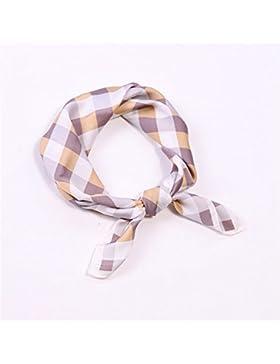 FLYRCX Trellis scarf Lady Soft Silk scarf decoración del pelo de la correa 55cmx55cm,C