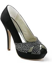 Chaussure de mariée noir strass