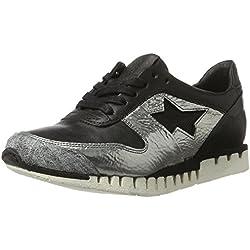 A.S.98 Damen Phoenix Sneaker, Schwarz (Nero/Argento/Nero/Argento/Nero/Nero), 39 EU