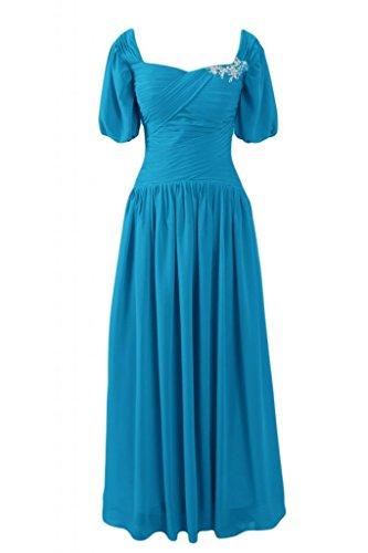 Sunvary Scollo quadrato in stile retrò, con scritta Mother of the Bride, per vestiti, misura Maxi Plus Gowns maniche corte da donna Blue