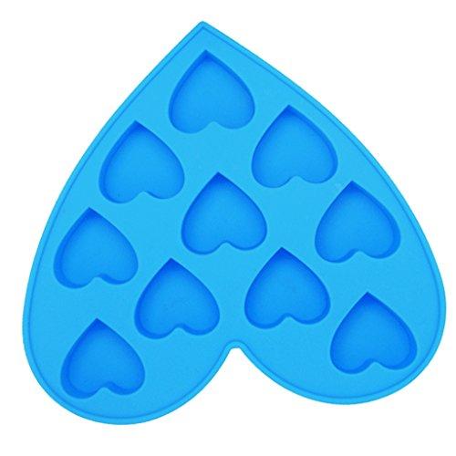 Unbekannt Sharplace Silikon Molds Süßigkeit Silikon Formen Ausstechform Eiswürfelform Eiswürfelbehälter Kuchenfprm für Babynahrung Küchenhilfe - Blau Herz