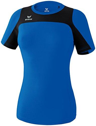 erima Damen Running T-Shirt Race Line, New Royal/Schwarz, 42 (Über T-shirt Line)