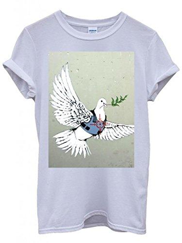 banksy-peace-war-bird-peagon-cool-funny-hipster-swag-white-weiss-damen-herren-men-women-unisex-top-t