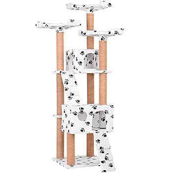 Leopet - Arbre à Chat Griffoir 171,5 cm Larges Plateformes Niches Spacieuses Convient aux Grands Chats (Couleur au choix)
