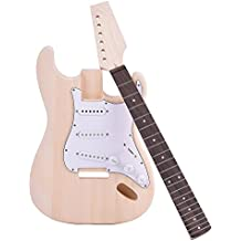 ammoon ST Estilo Guitarra Eléctrica Tilo Cuerpo Arce Cuello Diapasón de Palisandro ...