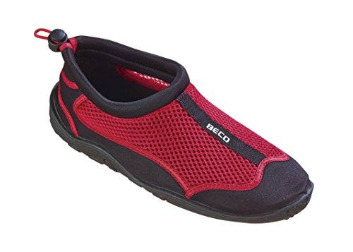Beco Unisex Aquaschuhe Surfschuhe Stand Up Paddling Wattschuhe N EUe Kollektion Schuhe, Rot/Schwarz, 38 EU