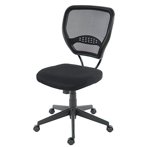 Mendler Profi-Bürostuhl Seattle, Chefsessel Drehstuhl, 150kg belastbar, Stoff/Textil ~ schwarz ohne Armlehnen