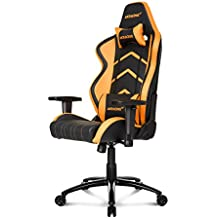 AKRacing Player Gaming Chair, Acciaio/Ecopelle/Plastica, Nero/Arancione, 2 Posti
