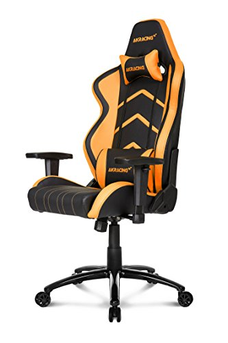 Akracing Player Gamer Fauteuil, Faux Cuir, Noir/Orange,...