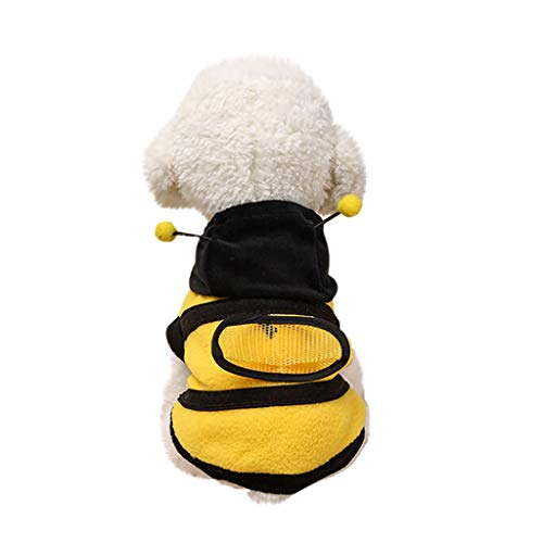 Dragon868 Pet Dog Cute Bumble Bee Lovely Wings Dog Cat Pet Clothes (Hund Bee Bumble Kostüm)