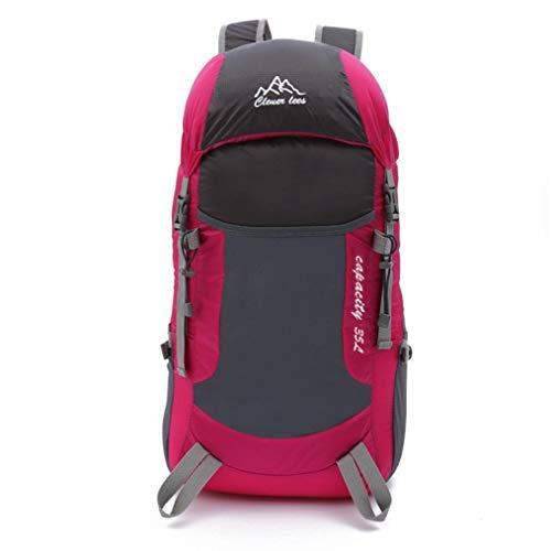 Liuliangmei Faltbarer Rucksack wasserdichte Outdoor Daypack Rucksäcke Für Männer Und Frauen Leichte Rucksäcke Für Die Reise 35Lgroße Kapazität, Wasserdicht,Pink -
