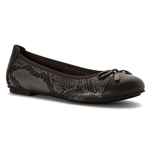 Vionic Womens 359 Minna Leather Shoes Grey Snake