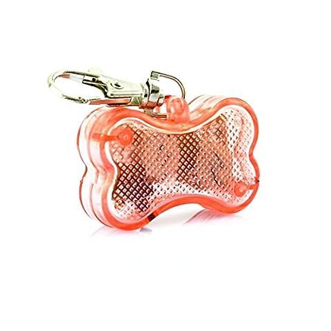 Médaille LED Lumineux Pendentif de Collier Collier pour Animaux Chien Chat-Rose