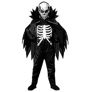 WIDMANN 38445 - Disfraz infantil de esqueleto (116 cm), color negro y blanco