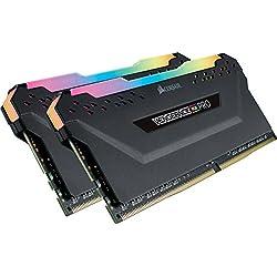 Corsair Vengeance RGB Pro - Kit de Memoria Entusiasta 16 GB (2 x 8 GB), DDR4, 3200 MHz, C16, XMP 2.0, Iluminación LED RGB, Negro