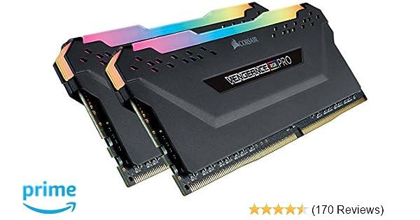 Corsair Vengeance RGB PRO 16 GB (2 x 8 GB) DDR4 3200 MHz C16 XMP 2 0  Enthusiast RGB LED Illuminated Memory Kit - Black