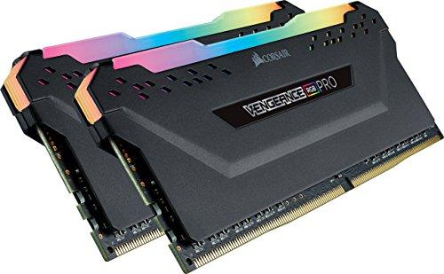 Corsair Vengeance RGB PRO - Kit de Mémoire Enthousiaste (16Go (2x8Go), DDR4, 3000MHz, C15, XMP 2.0) Eclairage LED RGB Dynamique - Noir