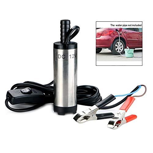 iPobie Pompa Carburante 12v 38mm,Pompa Acqua e Olio per Liquidi per Auto Diesel Pompa Acqua Combustib