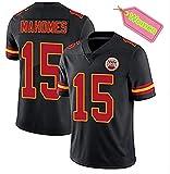 ZJFSL NFL Football Jersey Kansas City Chiefs # 15, 87 Kelce Besticktes NFL-Jersey-Kurzarm-Sport-Top-T-Shirt für Damen