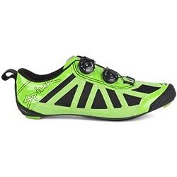 Spiuk Pragma Triathlon - Zapatilla de ciclismo unisex, color verde / negro, talla 40
