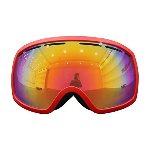 Schutzbrille Werkstatt Zweischichtlinse Anti Fog Skibrille Brille Skibrille Skiausrüstung Red Damen Herren