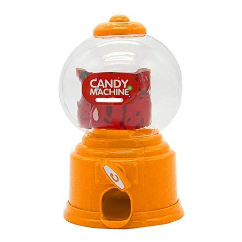 Usuny Süße Sweet Mini Bonbon Maschine Bubble Kaugummi Spender Münze Bank Kinder Spielzeug Kinder Geschenk - Orange