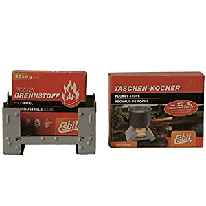 41jRnSj RjL. SS300  - Esbit Pocket Stove Dry Fuel Camp Fire Adventure Adventure Cook Camping Hiking Survival Camping Hiking Cooking Equipment # 16378