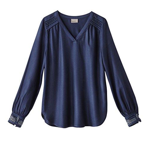 Vero Moda Donna Camicetta A Maniche Lunghe Taglia 1 Blu