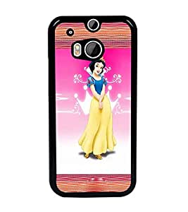 PrintDhaba Princess D-2469 Back Case Cover for HTC ONE M8 EYE (Multi-Coloured)