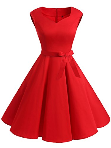 IVNIS-Womens-Vintage-1950s-Semi-Fixed-Belt-Rockabilly-Swing-Dresses-with-Pockets