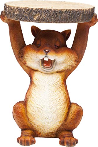 Kare Design Beistelltisch Animal Mini Squirrel Ø25cm, Eichhörnchen Beistelltisch, Tier Wohnzimmertisch in Runder Form, verschiedene Ausführungen erhältlich (H/B/T) 35x25x25cm -