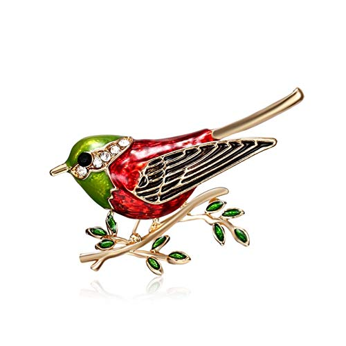 HYLIWI Brosche Rhinestone Colorful Enamel Oriole Bird Branch Brooch Pins Men Women's Alloy Bird Brooches for Suits Dress Banquet Brooch Gift (Orioles Vogel Kostüm)
