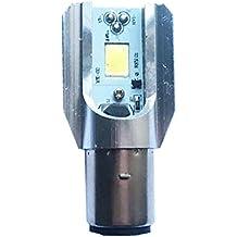 Gazechimp COB LED Luz de Faro Bombilla Delantera de Largas Corto Alcance Accesorio para Moto BA20D