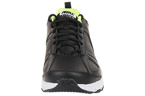 Nike T-Lite XI Herren Hallenschuhe Schwarz (Black/Volt-White-White)