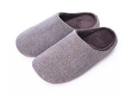 Indoor pantofole mute, in autunno e inverno, uomini e donne a casa casa pantofole di cotone morbido fondo , men blue men brown