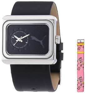 Puma Time Damen-Armbanduhr Change Black Analog Quarz Leder PU102442003
