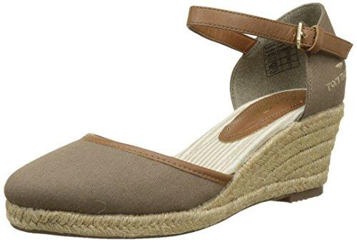 Tom Tailor Damen 2790903 Geschlossene Sandalen, Braun (Schlammfarben), 41 EU