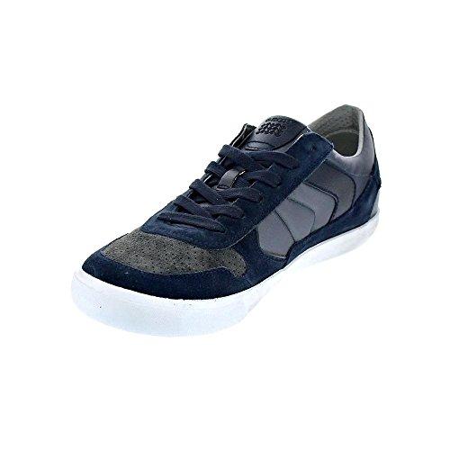 Geox U Box C, Scarpe da Ginnastica Basse Uomo, Blu (Navy/Dark Grey), 44 EU