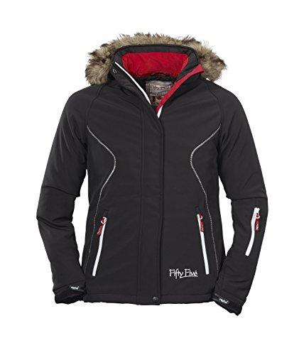 Damen Ski-Jacke | Softshell-Jacken mit abtrennbarer Fellkapuze von Fifty Five - Aurora - winddichte wasserdichte FIVE-TEX Membrane für Funktions-Bekleidung