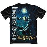 Iron Maiden Fear Of The Dark Tree Sprite T-Shirt Lizenzware schwarz blau weiss XL