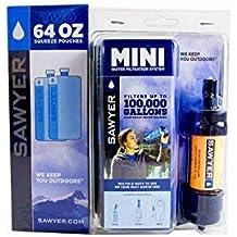 blau Kanister 2/x 2/l Sawyer MINI Wasserfilter Original Set 3/x 1/Liter