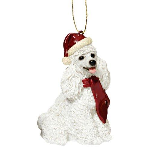 tmas Ornaments, Weihnachten Weißer Pudel Ferienhundeornamente ()