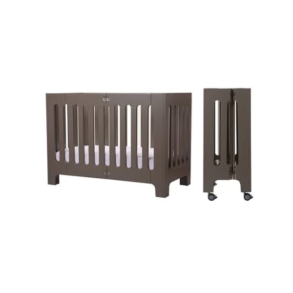 Bloom Alma Papa Baby Crib/Cot (Convertible, Sold Wood, 0-4 Years) (Frost Grey)  Alma Papa is suitable from newborn to 4 years, beautiful, modern solid wood crib with 2 mattress heights allow use as a bassinet & full-size crib patented compact-fold construction for easy storage & transport (durable storage bag available separately) open slats on all four sides maximize all important air-flow 2