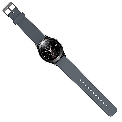 Preisvergleich Produktbild Samsung Gear S2 Classic Armband Uhrband Uhrenarm Band Wrist Strap , in Dunkelgrau OKCS®