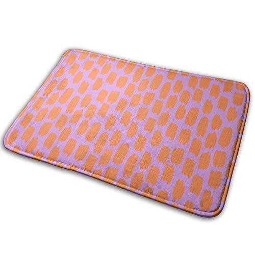 OOworld Fußmatte Custom Entrance rutschfest Orange Swatches On Lavender_971 40 x 60 cm