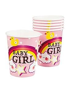 Boland- Vasos de cartón nublado, 6 unidades, rosa, talla única, multicolor, BOL53220
