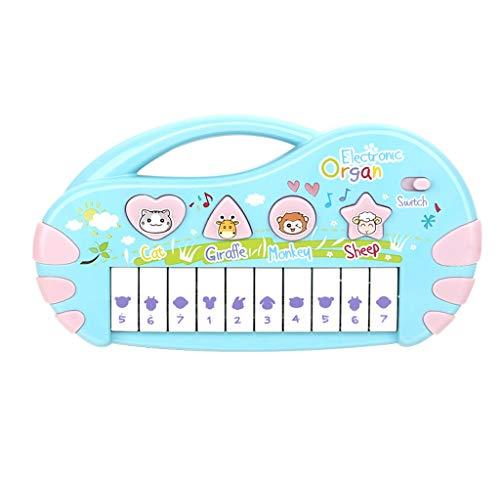 RENJUN Kleinkind Kinder elektronisches Klavier Spielzeug 1-3 Jahre alte Kinder Bildung Puzzle Musik Klavier Baby Mini Piano Kinder Keyboard Klavier (Color : Blue) (Kleinkind-klavier)