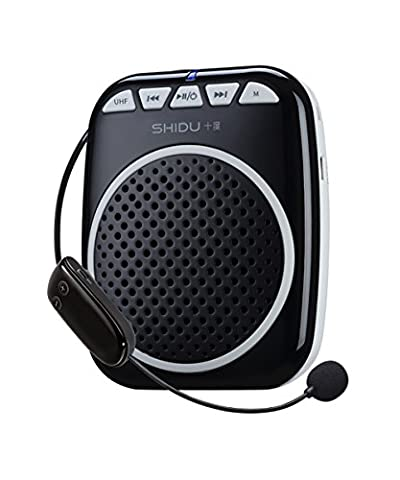 Portable Rechargeable Voice Amplifier with UHF Wireless Microphone Speaker,10 Play